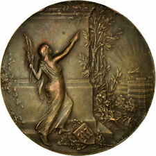 [#713430] France, Medal, Art Nouveau, Journal Le Matin, Riberon, Au, Bronze