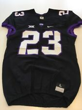 Game Worn Used Nike TCU Horned Frogs Football Jersey #23 Size L