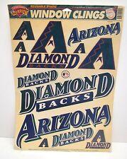 Retro Arizona Diamondbacks High Quality Window Cling Baseball Decal Sheet Set