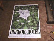 HORROR HOTEL AKA CITY OF DEAD 1960 ORIG 27X41 MOVIE POSTER  CHRISTOPHER LEE