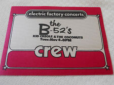 B-52's - special guest Kid Creole & The Coconuts - Crew Pass