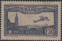 "FRANCE STAMP TIMBRE PA 6 b "" AVION MARSEILLE 1F50 OUTREMER VIF"" NEUF xx TTB J789"