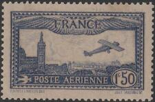 "FRANCE STAMP TIMBRE PA 6 b "" AVION MARSEILLE 1F50 OUTREMER VIF"" NEUF xx TTB J789"