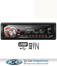 Pioneer MVH-160ui Mechless Car Radio with USB and AUX in for iPod and iPhone