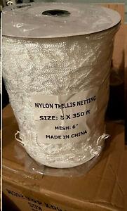 """NylonTrellis Net 5x350ft Roll Garden Netting 6"""" Mesh"""