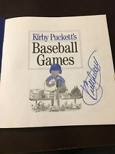 Autographed Kirby Puckett Baseball Games Book MN Twins Signed W/ COA