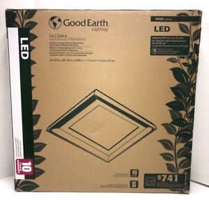 Good Earth Lighting Tacoma Ceiling Fixture Pewter Finish LED 4400 Lumens NEW