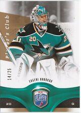 2009-10 Be A Player #130 Evgeni Nabokov Player's Club #'d 14 / 25 San Jose Shark