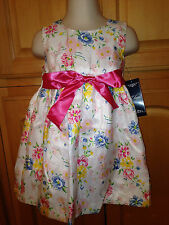 NWT CHAPS Girls Infant Floral Dress W/Diaper Cover Size 12M, $44 Wedding