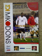MK Dons v Bristol City - Coca~Cola League 1 2005/06 Programme