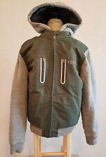 Fox Racing Men's Sasquatch Faux Fur Zipper Hooded Jacket Sz Small Pre-owned Euc