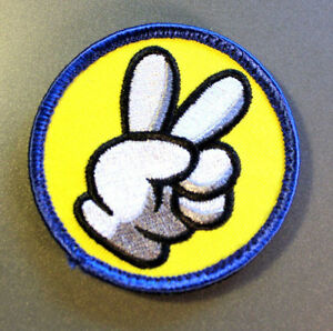 Peace retro classic video game - PATCH - 7x7cm - PARCHE - Hook & Loop backing