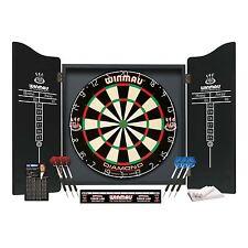 Winmau Professional Darts Set Deluxe Classic Cabinet Premium Bristle Dartboard