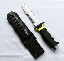 ScubaMax Full Size Dive KNIFE High Density Scuba Diving BLUNT TIP KN-601-NY