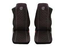 Volvo FH4 , FL , FE after 2014 Truck Seat Covers 2 piece BLACK GREY piping