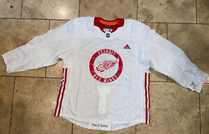 Detroit Red Wings Team Issues Practice Jersey Adidas Made In Canada Size 56 NWT