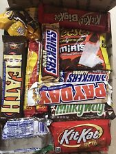 Lot Of 85 Candy Bar Chocolate M&M Snickers Butterfinger Snickers Reeses York