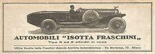 W9157 Automobili ISOTTA FRASCHINI - Pubblicità del 1923 - Vintage advertising