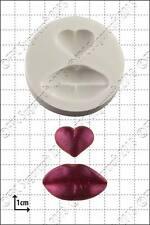 Stampo in silicone Labbra & Cuore | uso alimentare FPC Sugarcraft spedizione gratuita in UK!