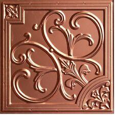 # 204 - Copper 2'x2' PVC Faux Tin Decorative Ceiling Tile Panels Glue Up/Grid