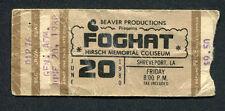 1980 Foghat Pat Travers Concert Ticket Stub Shreveport La Fool For The City