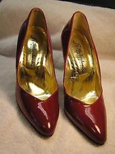 Vero Cucio Italianheels Stiletto Red Patent Leather High Heels Womens size 38