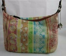 Fossil Leather Handbag Colorful Floral Medium Shoulder Bag