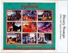 "GUYANA 1995 DISNEY CARTOON FILM ""POCAHONTAS"" CHARACTERS 9v MNH SHEET"