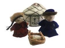 Handmade by Women Felted Wool Yurt Nativity Set White - Silk Road Bazaar (o)