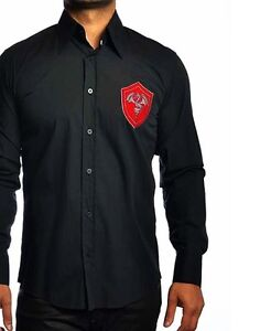 Luxury Black Sport Shirt - FAST SHIPPING!! - Mondo Jeans 8523 in sizes M, L, 2XL