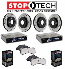 Front & Rear StopTech Drilled Brake Rotors Street Pads For Infiniti Nissan 370Z