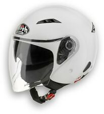 CASCO HELMET JET CITY ONE COLOR WHITE GLOSS AIROH SIZE XL