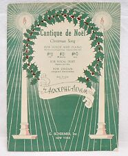 SHEET MUSIC CANTIQUE DE NOEL CHRISTMAS SONG DATED 1935