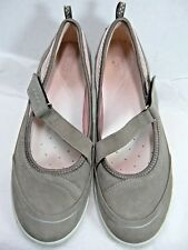 Ecco Womens Shoes Size 10  Euro 41  Mary Jane Faux Nubuck and Mesh Taupe #Y