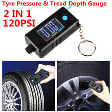 Car Tyre Pressure Gauge&Tread Depth Gauge 2in1 Digital Tire Gauge With Key Chain