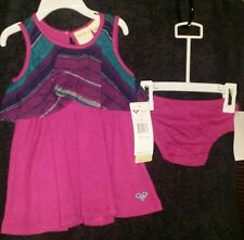 ROXY GIRL BABY INFANT GIRL ARCTIC CRUISE 2 PC DRESS MATCHING DIAPER 6-12M