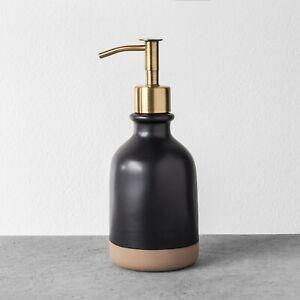 NEW Hearth and Hand W/ Magnolia Stoneware Soap Pump Dispenser Bath Kitchen