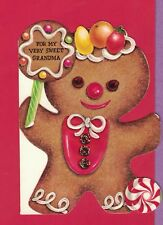 1117D  VTG MC HALLMARK CARD FOR GRANDMA GINGERBREAD MAN GINGERBREAD LOLLIPOP