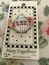 Card ~ Mary Engelbreit Tea Pot Button