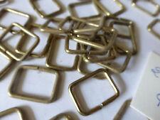 lot de 50 ancienne boucle anneau fab france WEIL bijou de sac déco métal doré