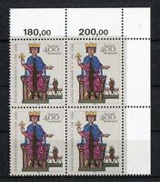 Bund 1738 VB postfrisch Eckrand Viererblock aus Ecke 2 BRD 1994