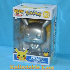 Pokemon Pikachu Silver Metallic 25th Anniversary 10 Funko Pop Vinyl