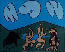 Pablo Picasso - Bacchanal with Black Bull- Linolschnitt