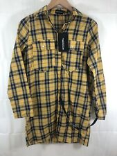 Pretty Little Thing Oversized Checked Shirt Dress. New Tagged Uk 4
