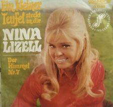 """7"""" 1970 RARE IN VG+++! NINA LIZELL : Ein kleiner Teufel"""