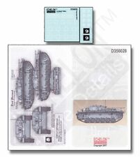 """Echelon FD D356028, 1/35 autocollants pour SS Sturmgeschutz Abt. """"Totenkopf"""" STUG IIIC/D"""