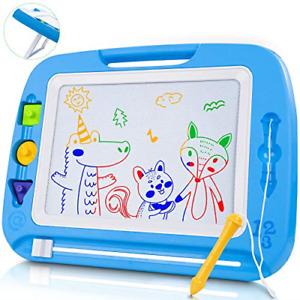 lenbest Magnetic Drawing Board, Large 8 Colors Magic Doodle Pad Tablet 42�33 cm