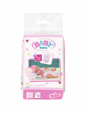 Baby Born Diapers 5 Pcs Accessories for Doll by Zapf Nip