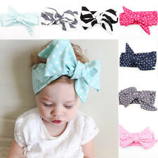 HOT 9Pcs Cute Kids Girl Baby Toddler Bow Headband Hair Band Accessories Headwear