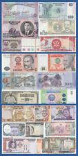 100 Verschiedene Banknoten  Kassenfrisch / UNC
